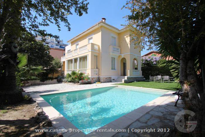 Villa for rent 5 mn walk to the Croisette and beac ID:97