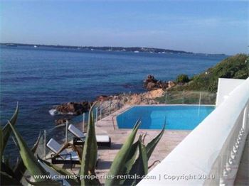 Luxurious beach front villa in Cannes for rent ID:180