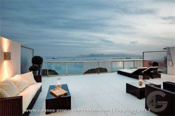 Penthouse for rent in Cannes on la Croissette ID:320
