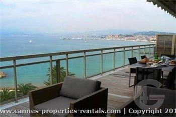 Sea front apartment in Cannes ID:400